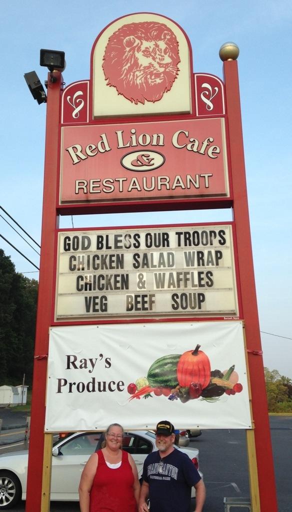 Red Lion Cafe Pine Grove Pa Menu