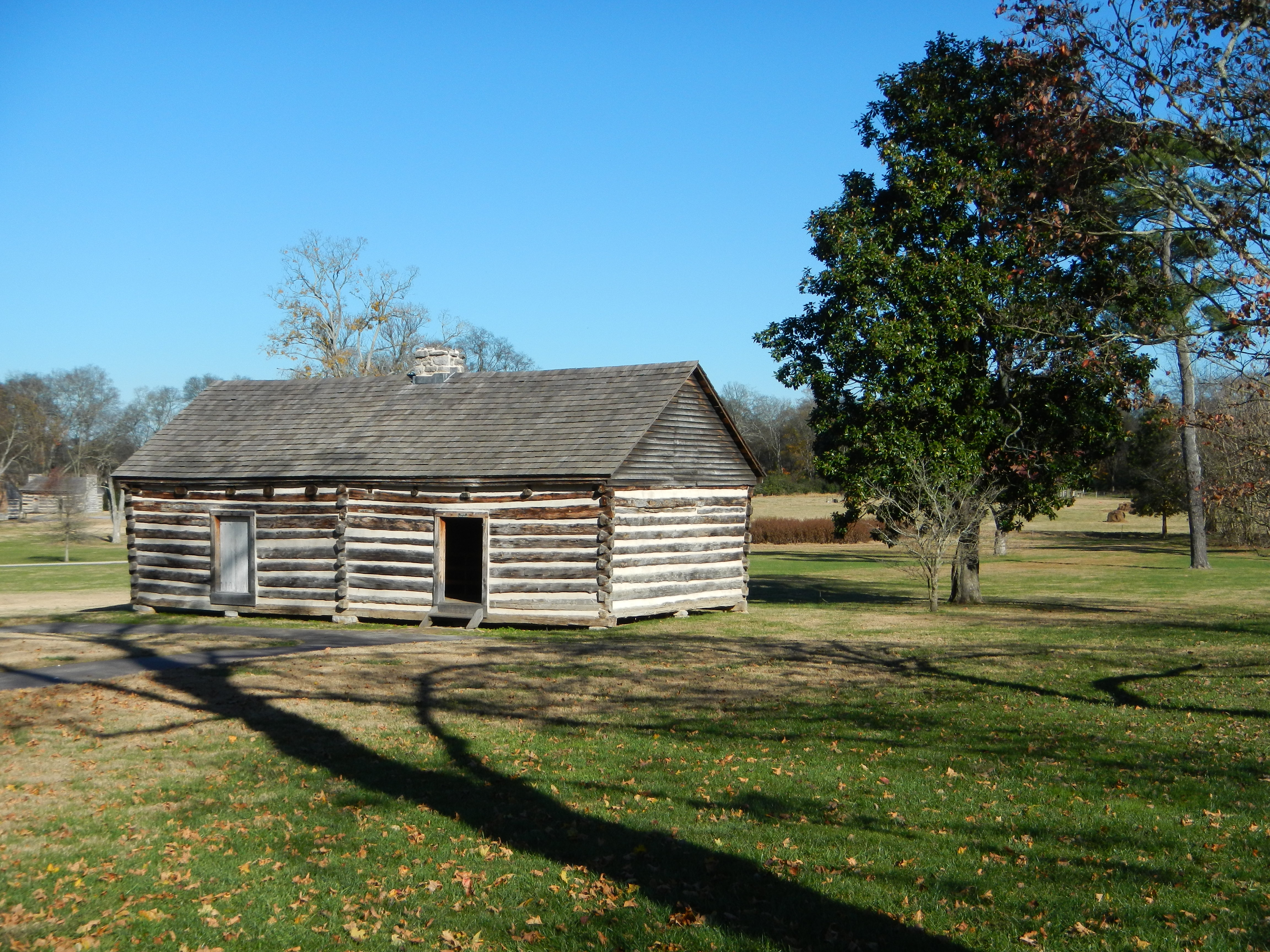 Alfred's Cabin.  One of the longest serving slaves owned by Jackson.  He stayed on after the property setup as a tourist location, working as a guide until his death.