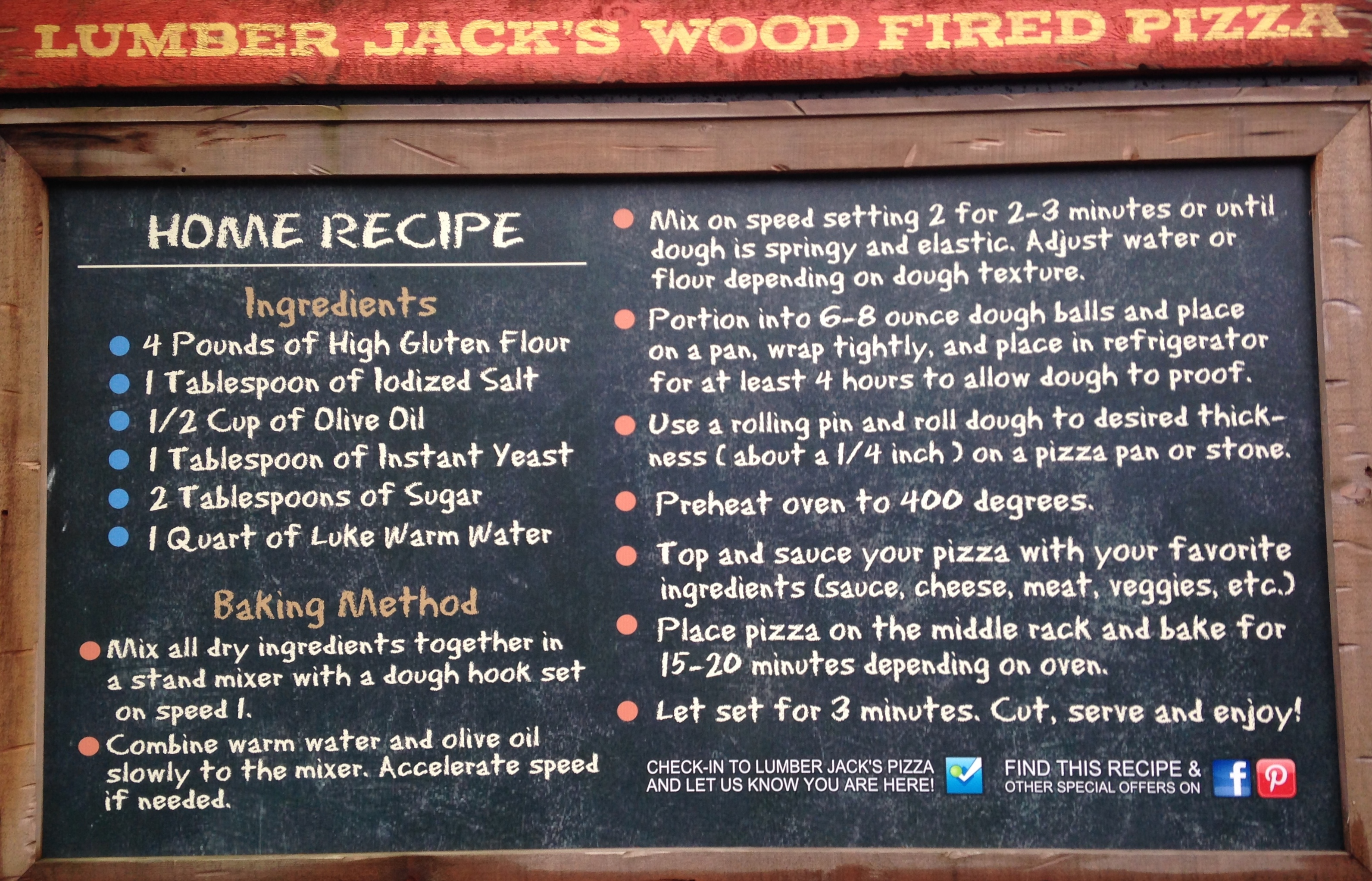 Dollywood - Pizza Recipe - Pigeon Forge