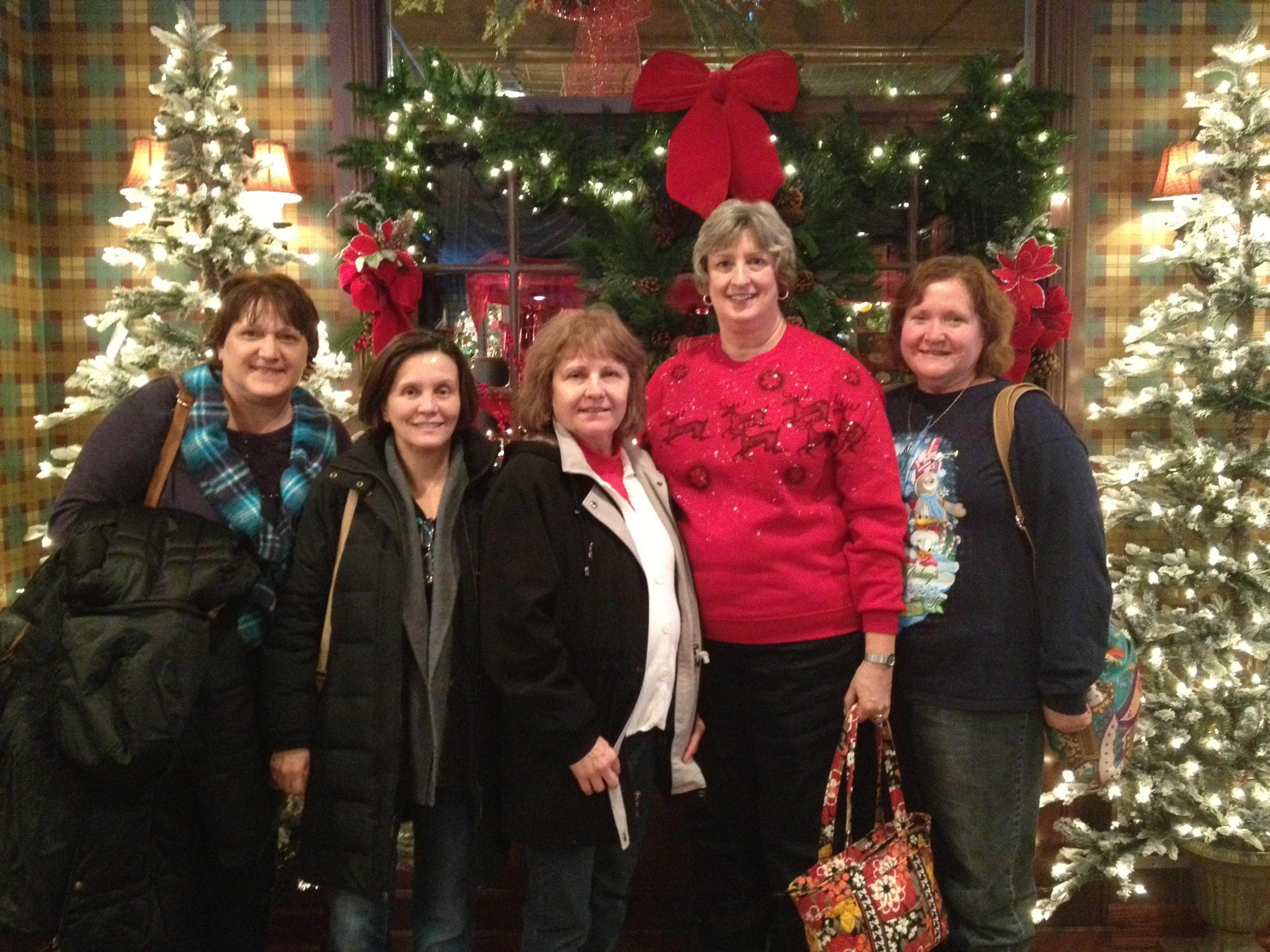 Pictured from L to R: Margie L, Selma, Alice F, Nancy B and Debbie R