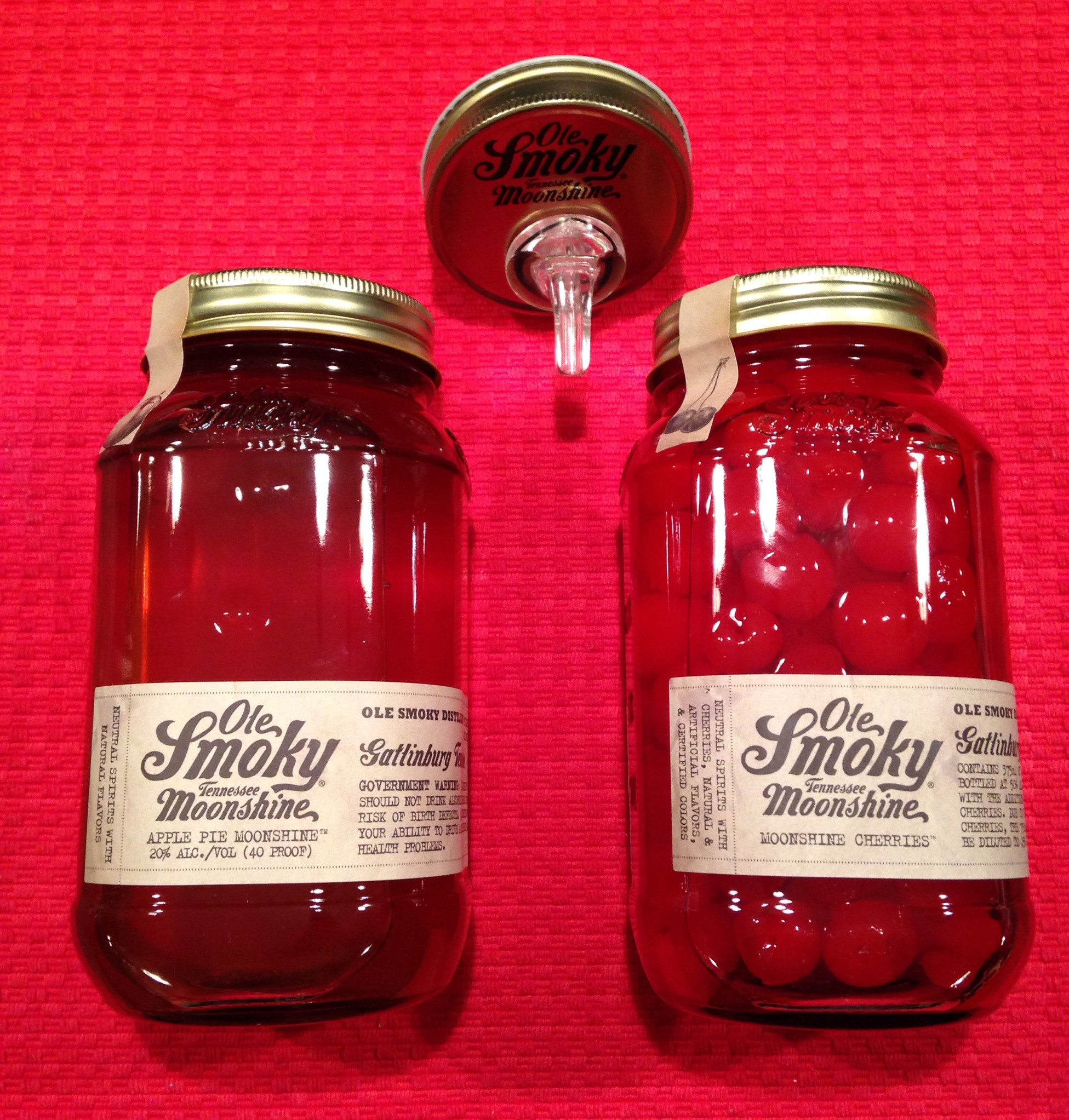 Here's our purchases from Ole Smoky Moonshine.