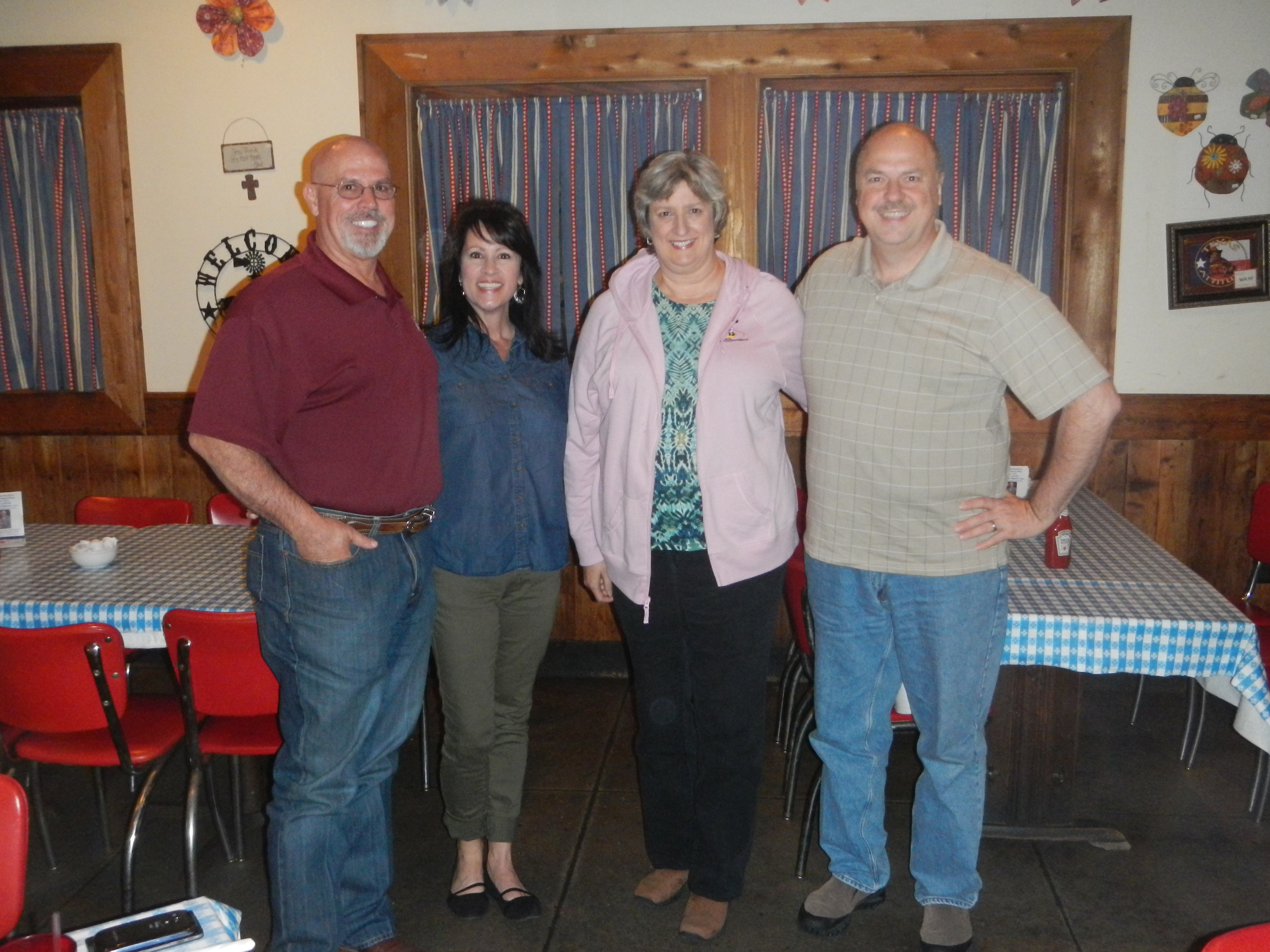 Buddy and Maureen R and us at Goodson's Cafe in Tomball, TX