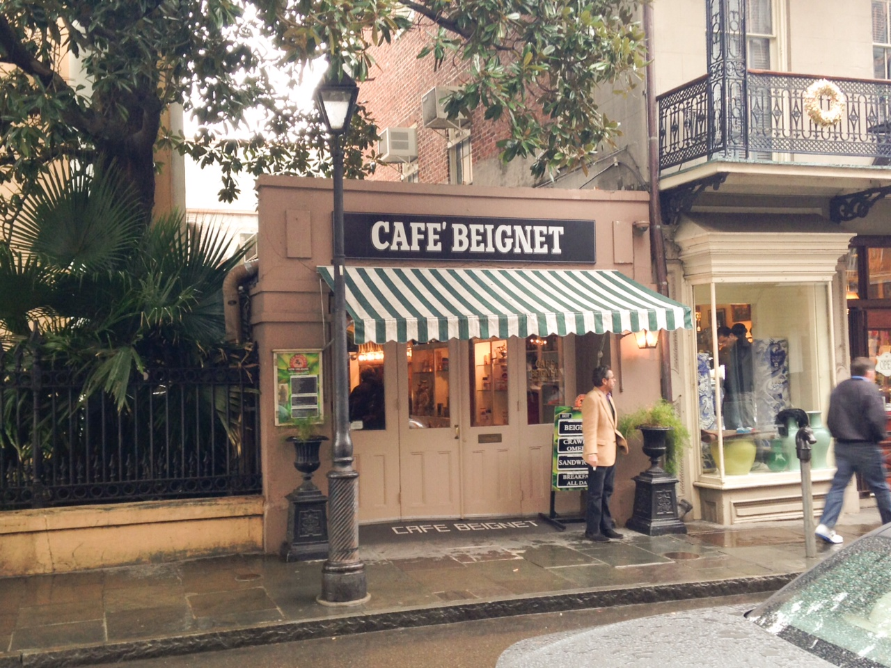 Cafe Beignet - the one on Royal Street.