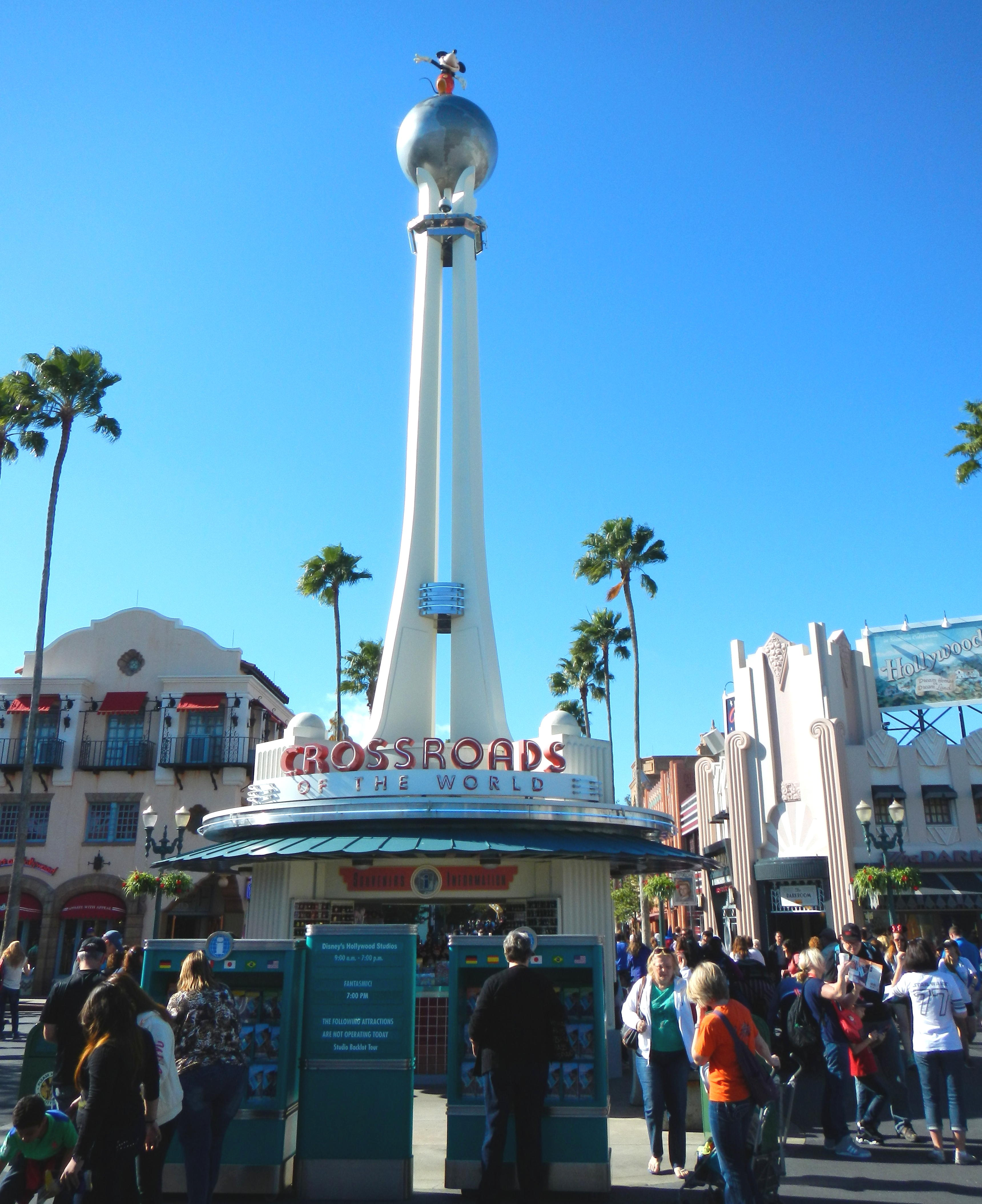 Crossroads of the World at the entrance to Disney's Hollywood Studios.
