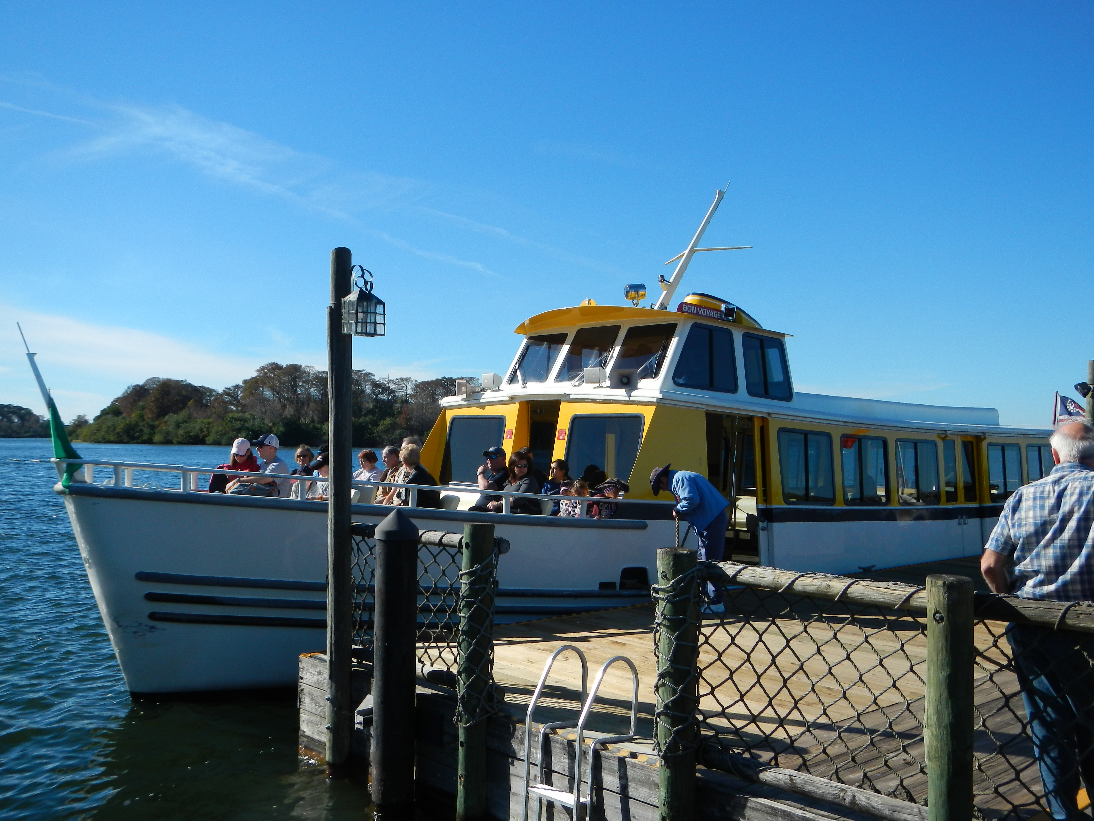 This was the boat we took from Fort Wilderness to the Magic Kingdom.