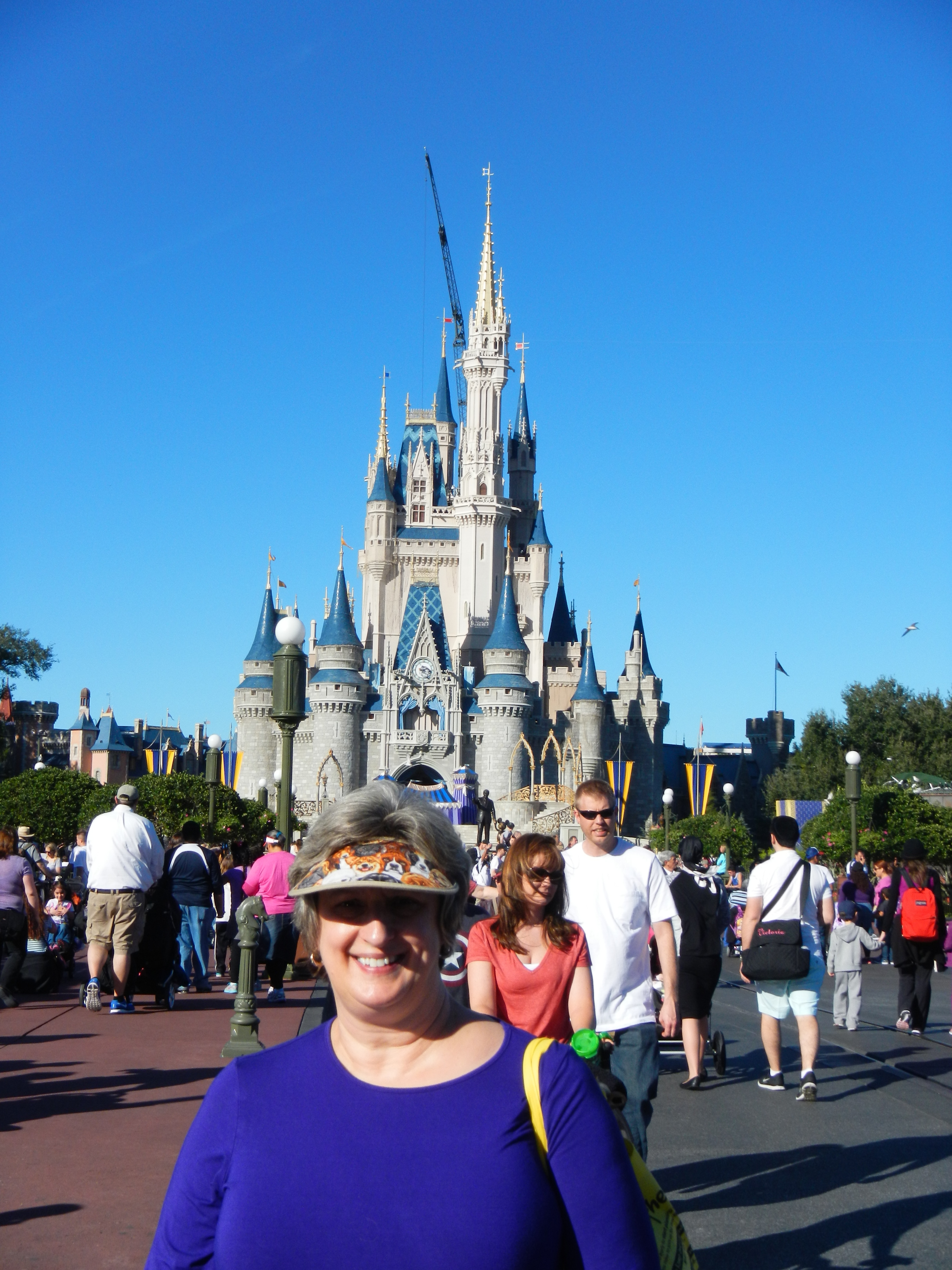 Nancy with Cinderella's Castle in the background.