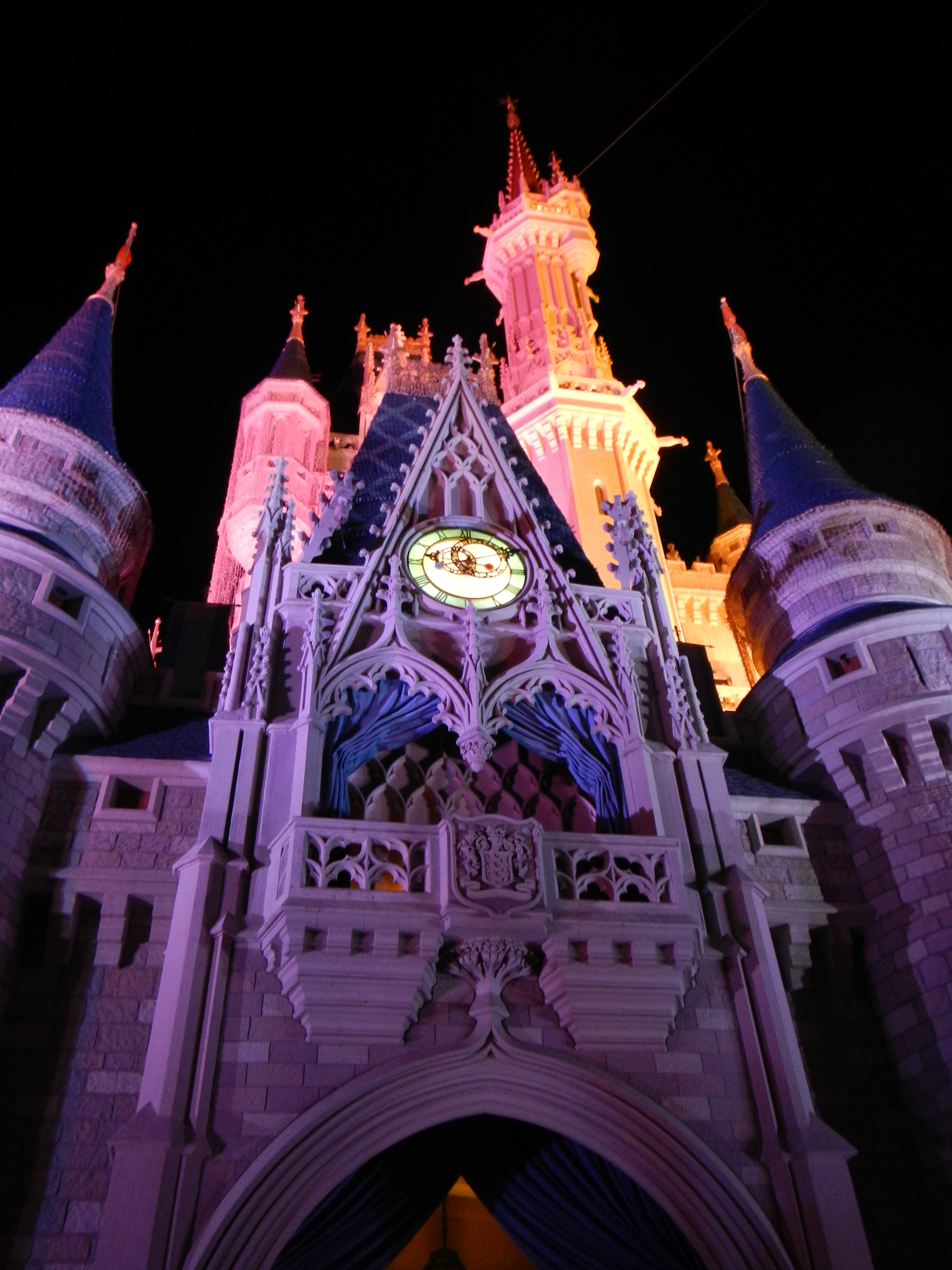 The nighttime images of the Cinderella's Castle are pretty cool.