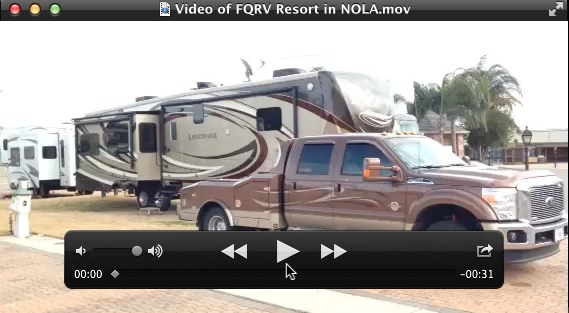 Click image above to play video I took here at the French Quarter RV Resort