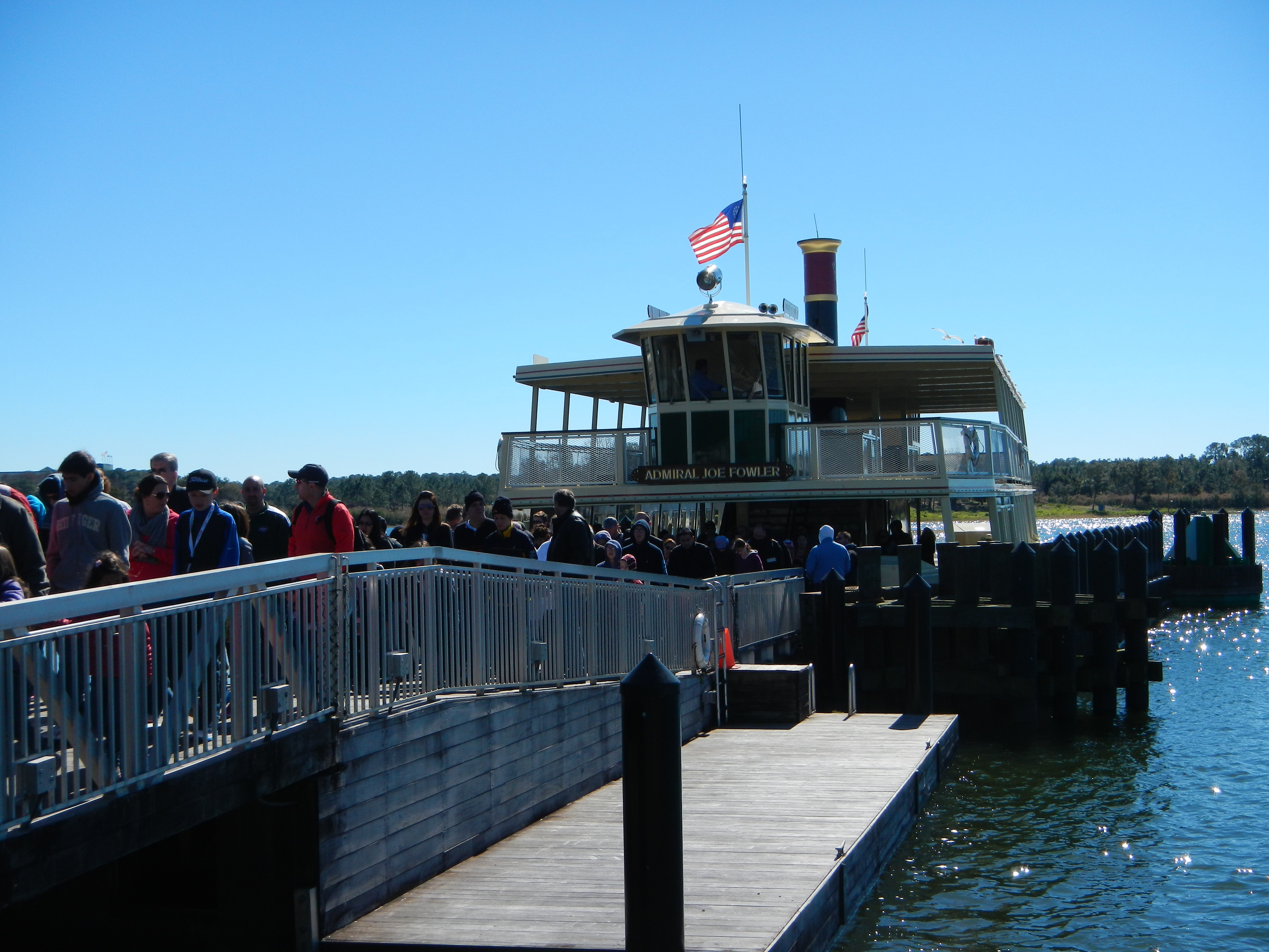 Ferry from Magic Kingdom to Disney Transportation Center