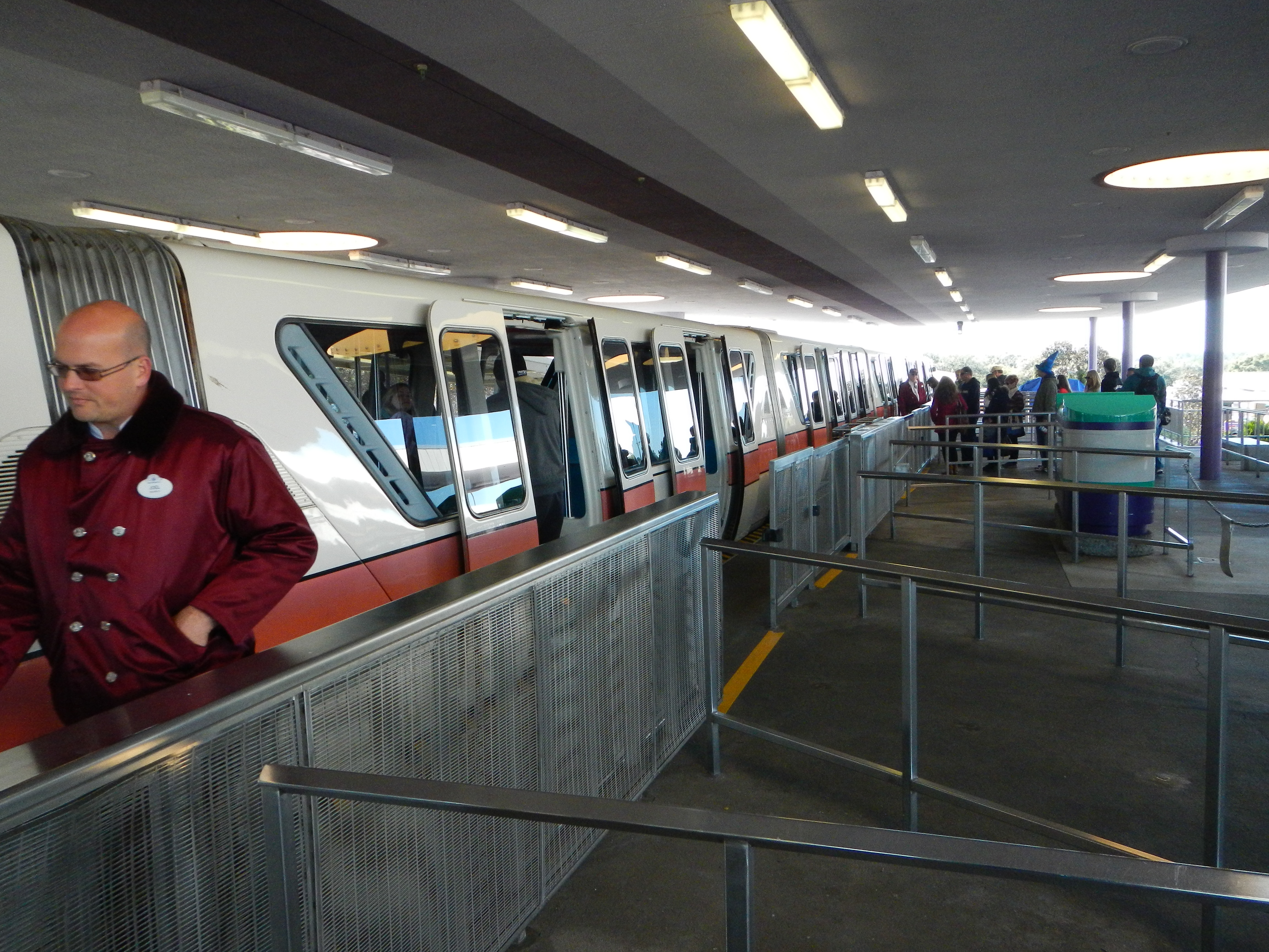 Monorail at Disney Transportation Center to Epcot