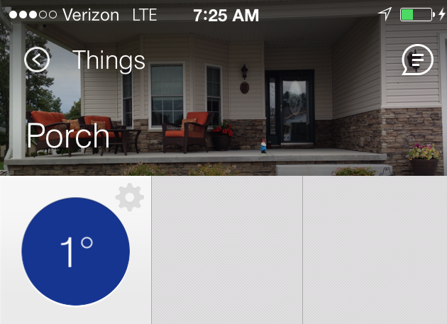 Brr!  1 degree at home.
