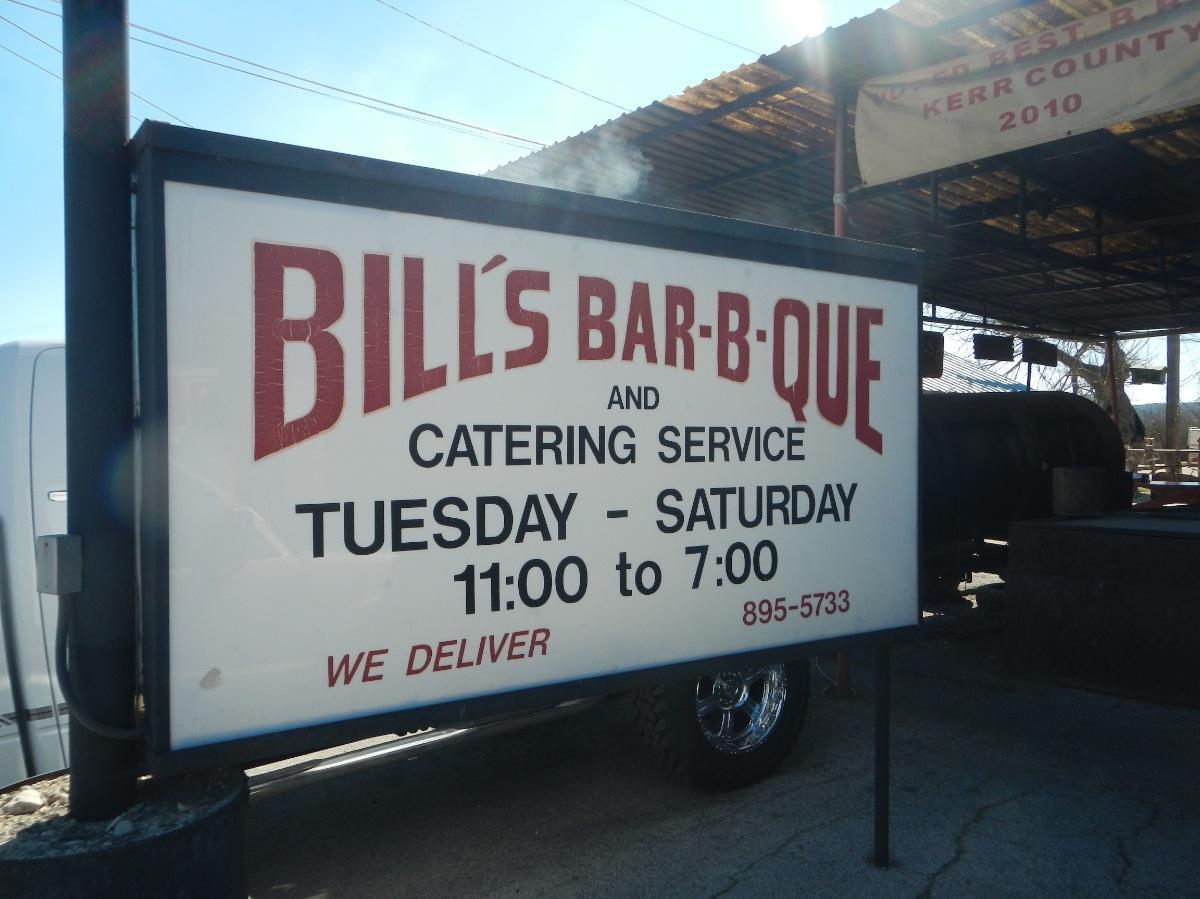 Bills BBQ - Sign