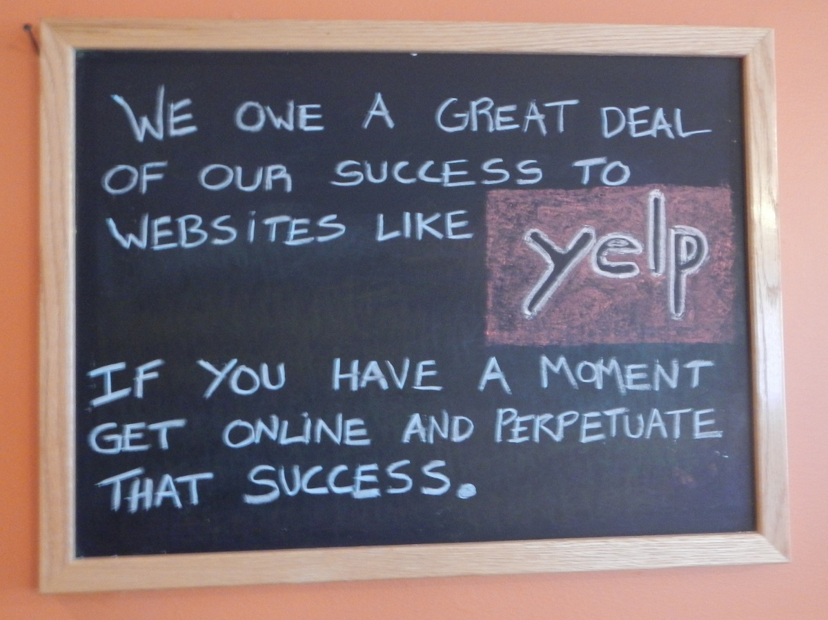 Sunset Grill - Yelp Sign 19