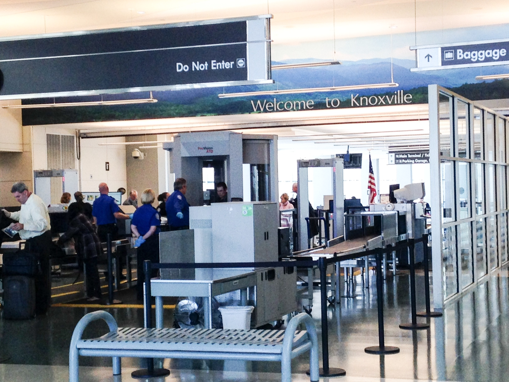 Security Checkpoint inside McGhee Tyson Airport near Knoxville (Maryville), TN