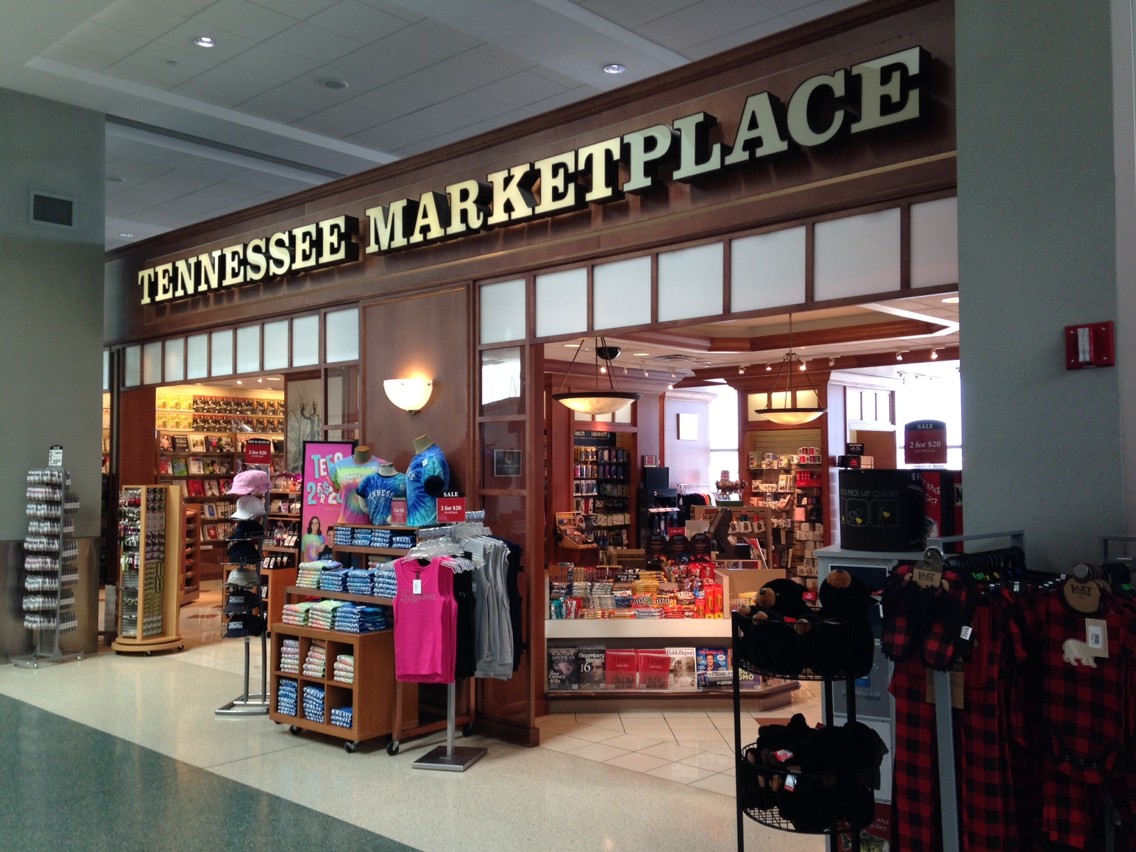 And a little poking around at the Tennessee store inside the airport.