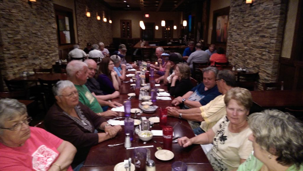 The Rally Holdover Group at Dinner at Roma's Italian Restaurant in Durant, OK