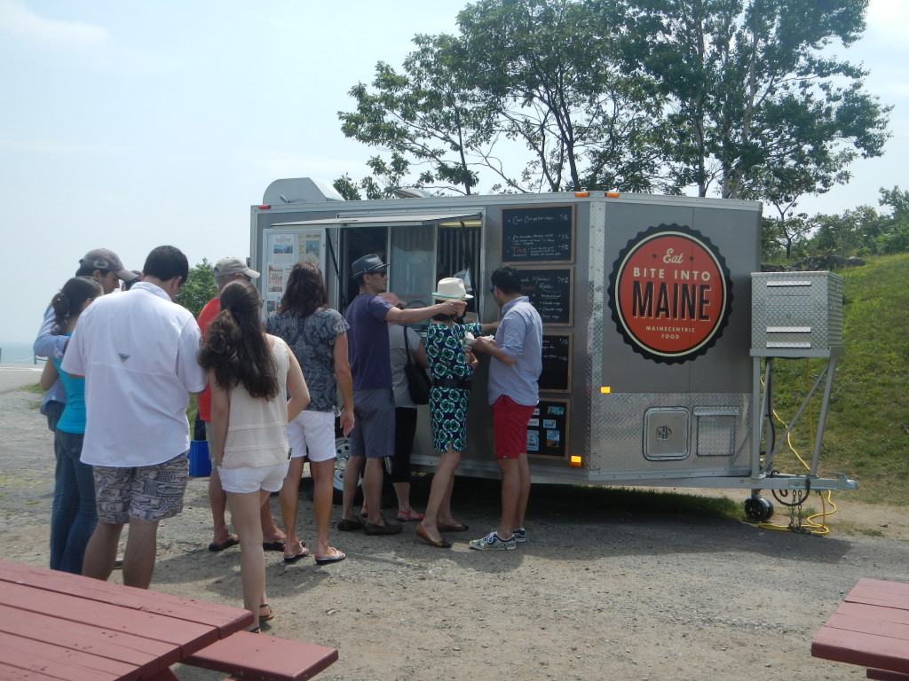 Maine - Cape Elizabeth - Fort Williams Park - Mainecentric Food Truck.  We had Lobster Rolls from this truck for lunch.  VERY good!